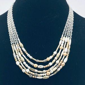 Chico's 5 strand costume necklace